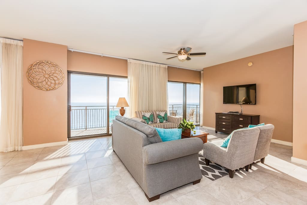 The recently remodeled condo boasts nearly 2,000 square feet of luxurious living space.