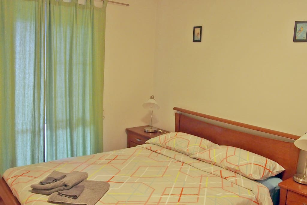 Bedroom 1. is large with queen sized bed, bedside tables and built-in robe