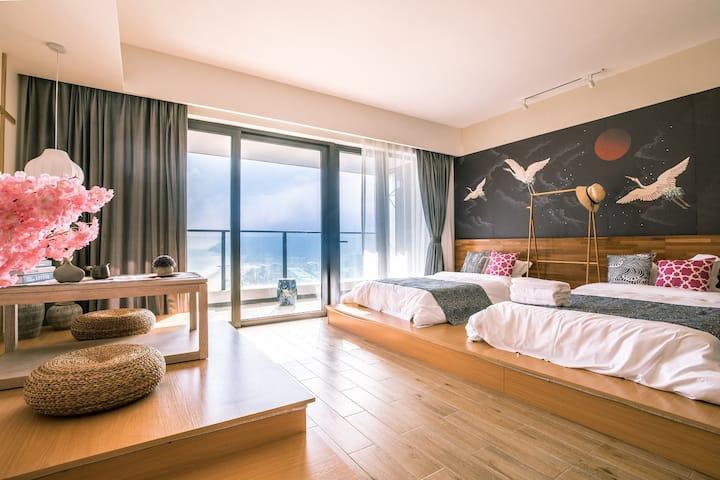 大海边的小日子|日式榻榻米海景双床