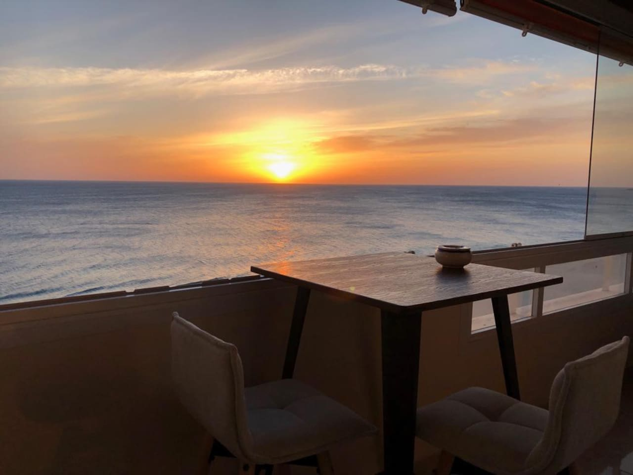 Sunset from terrace with Panoramics sea views
