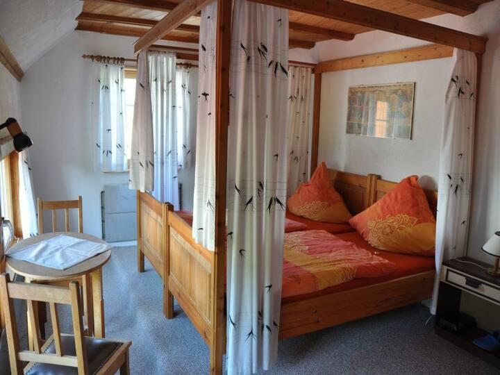 Pension Schwalbennest, (Herdwangen-Schönach), Doppelzimmer mit Dusche und WC