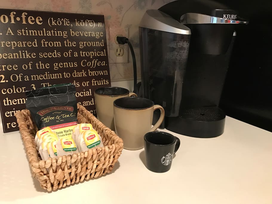 Make your morning coffee with our Keurig