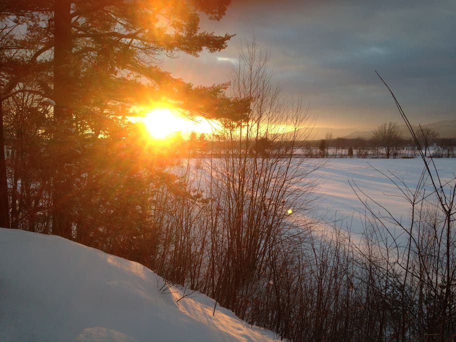 Winter sunset over Chocurua