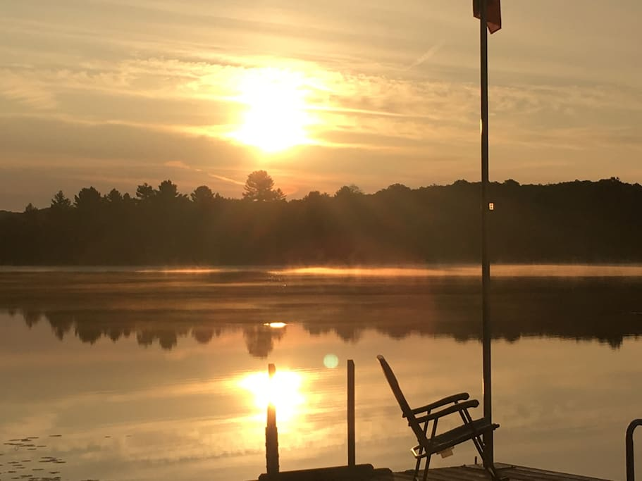 Sunrise from lower level lakeside