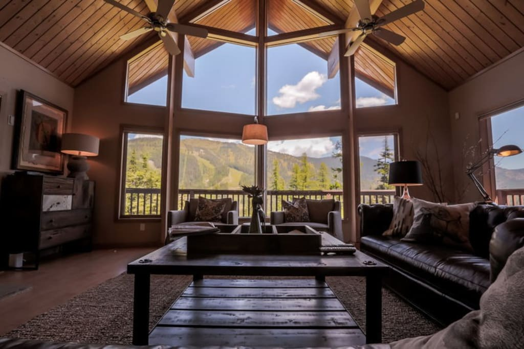Living room with incredible views
