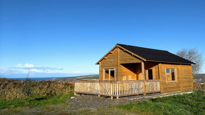 Our second log cabin, close to Cardigan town.