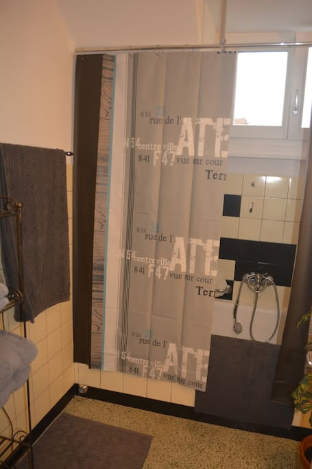 Studio avec salle de bains et entr e ind pendante for Location appartement yverdon bains suisse