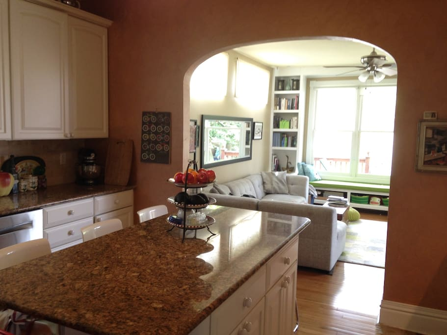 Shared large updated kitchen