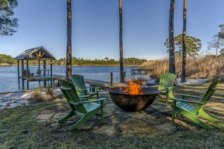 Perfect Grayton Beach Vacation Rental with Private Dock, Firepit and Free Bikes!
