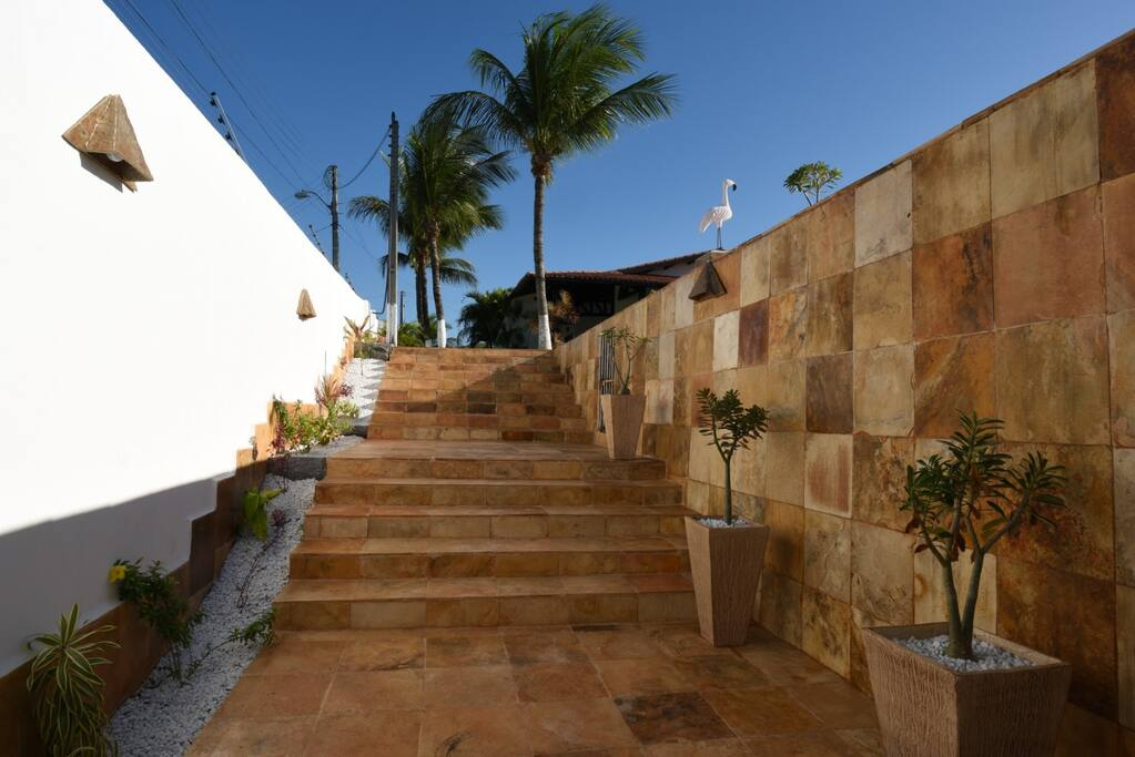 Stairs next to the Deck area