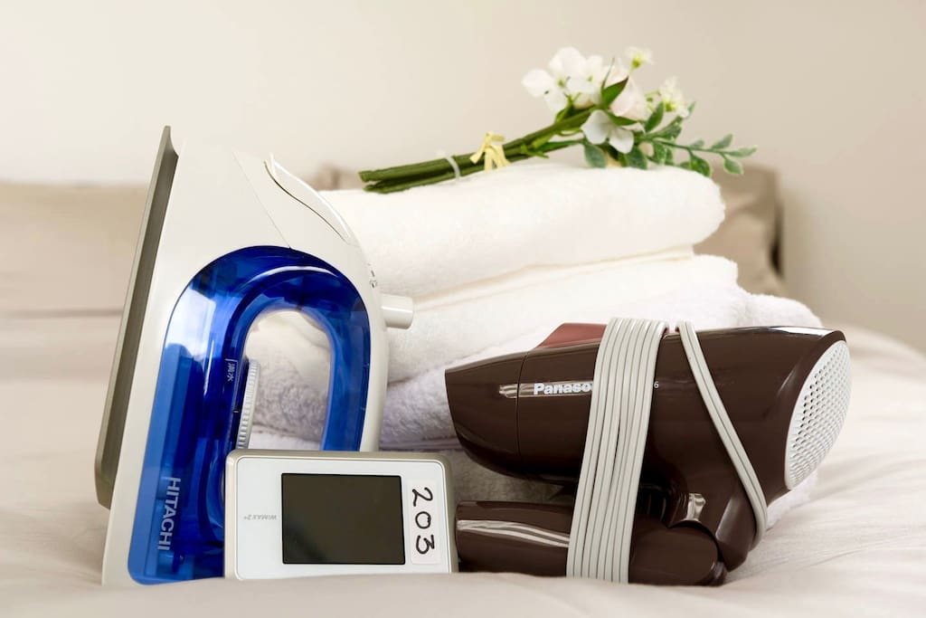 We offer pocket wi-fi, hair dryer, iron and iron board for your use during your stay :)