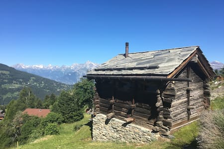 Charming typical Swiss chalet in old wood