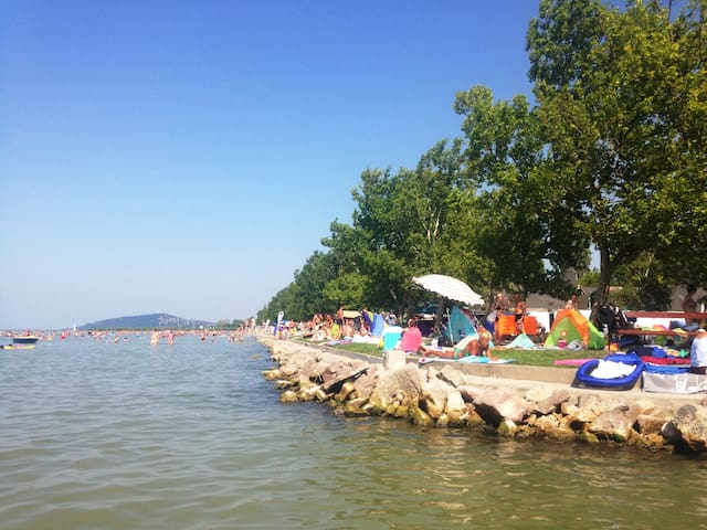 Mediterran villa vízparton! - Balatonboglár - Wohnung