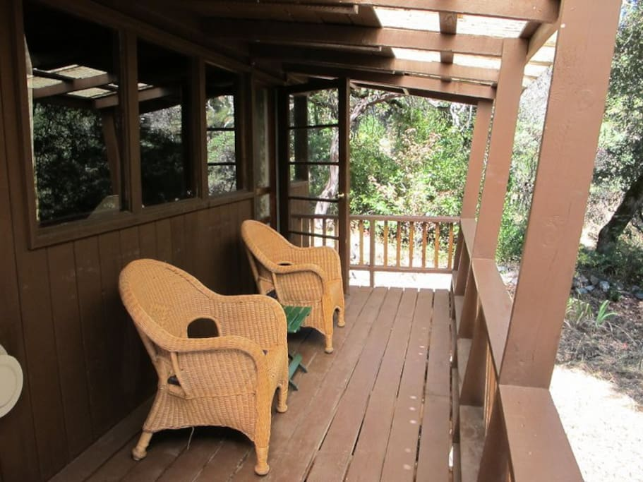 Each cabin has a private deck with river view.