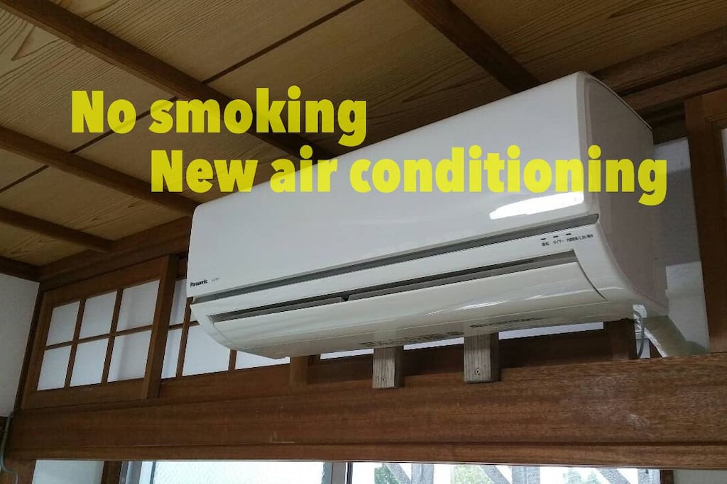 Air conditioner : Clean / non smoking