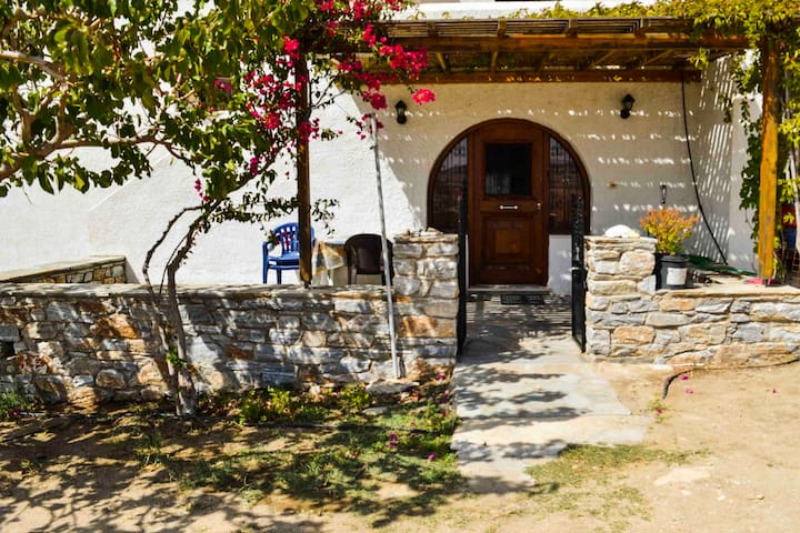 Detached Naxos house with view-2 km from the beach - Naxos - Huis