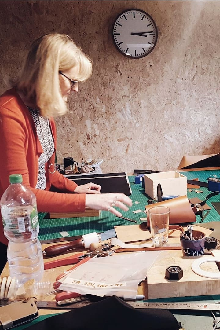 Cutting, embossing and hammering