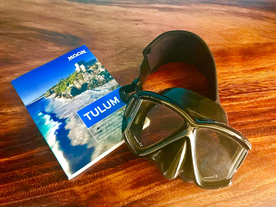 Your room has a guidebook and you can borrow snorkel masks and other goodies from the front desk