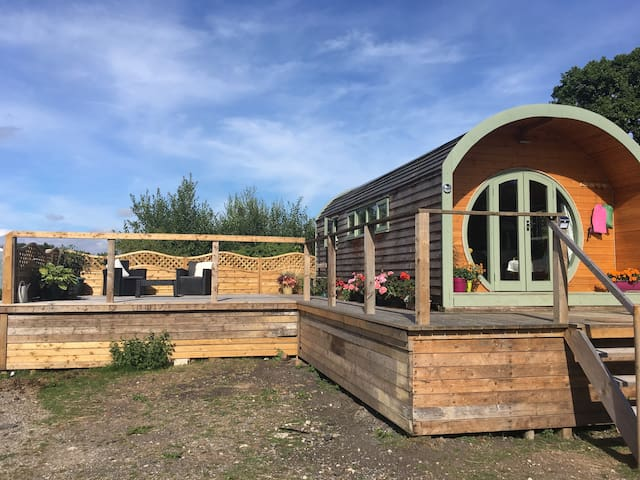 Stay in our Lovely Paca Pod on our Alpaca Farm.