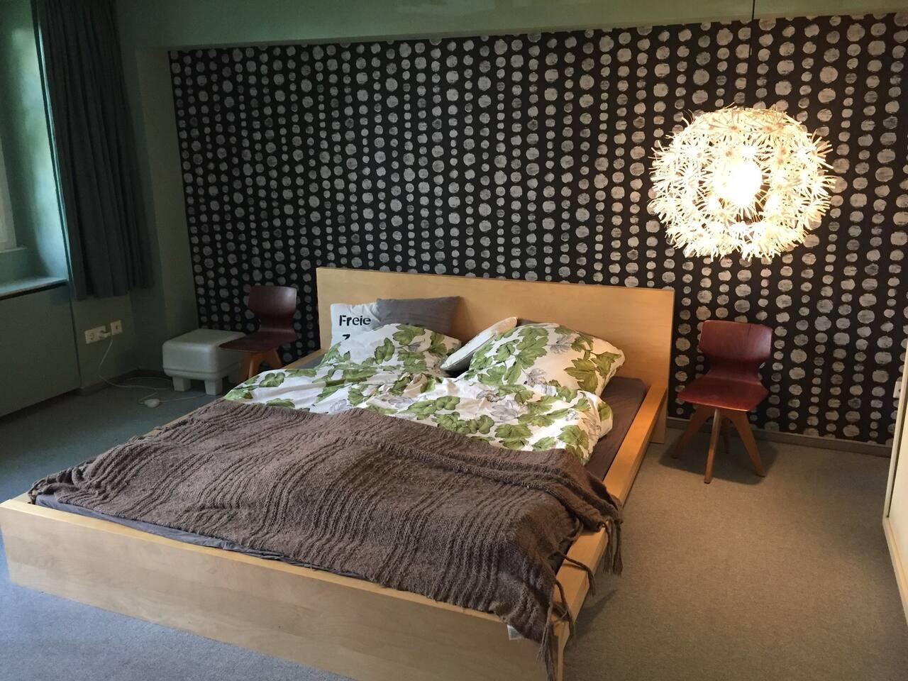 Das gemütliche Schlafzimmer.