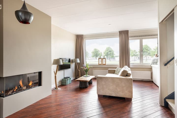 Great apartment with a perfect view over the Maas