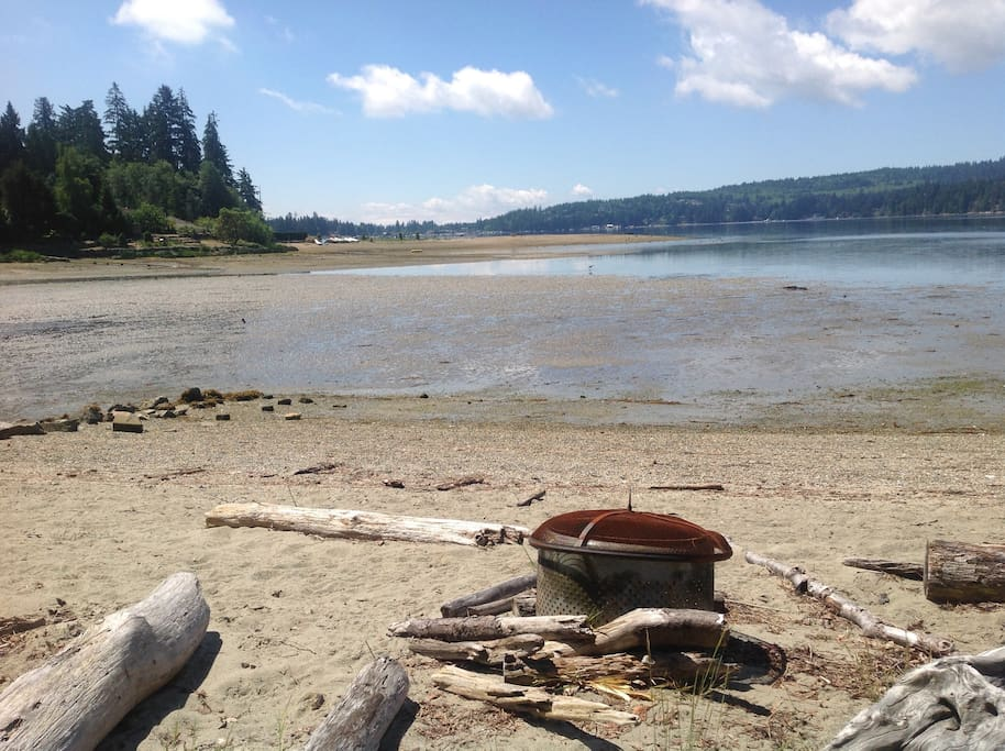 Our house backs on to this Sandy Beach!  Sechelt Inlet.