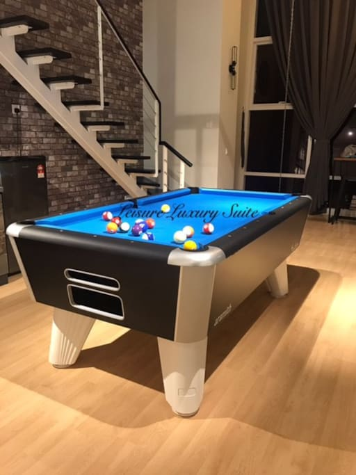 Exclusive Pool Table ready for all guests.
