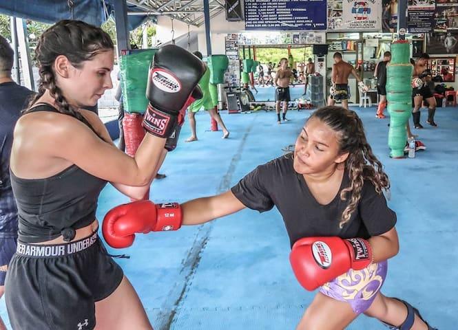 Thai Boxing Room. Training including
