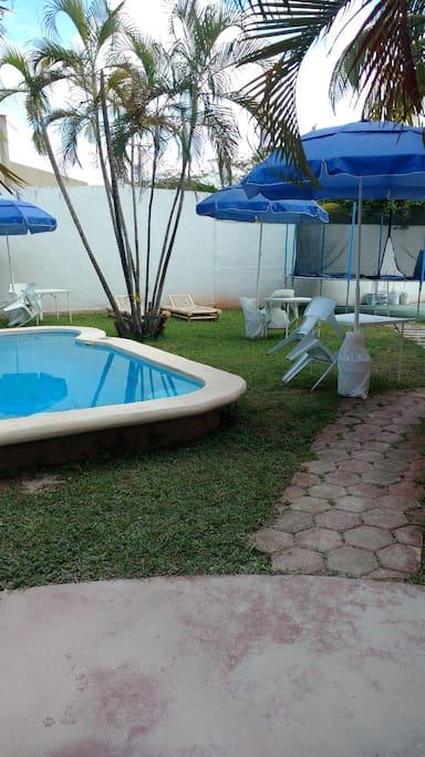 Área común únicamente se compartirá con los encargados de la casa, espacio privado.