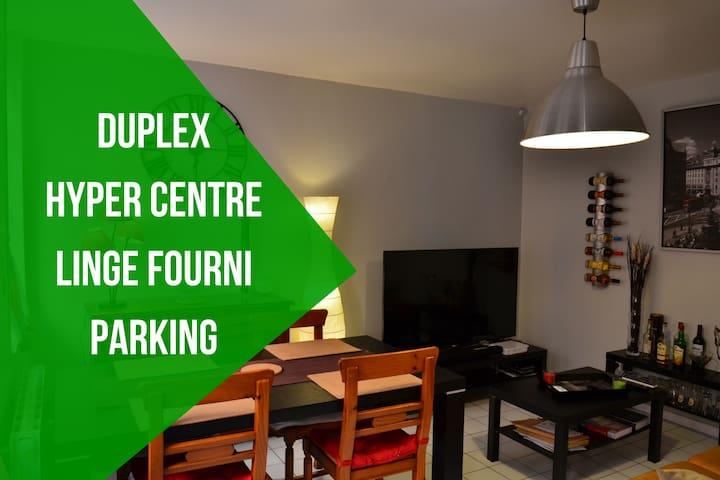 Duplex Cosy de 50m² Hyper Centre près de Rouen - Elbeuf - Pis