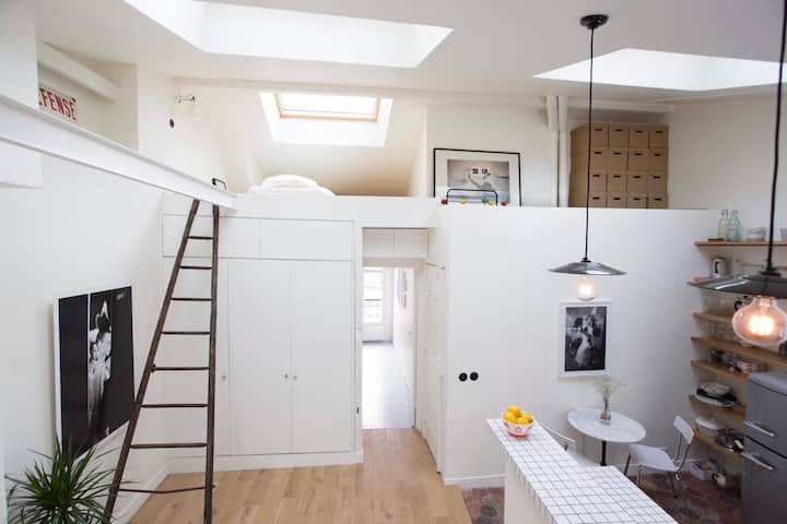 Viehättävä 40 neliön asunto Montmartrella