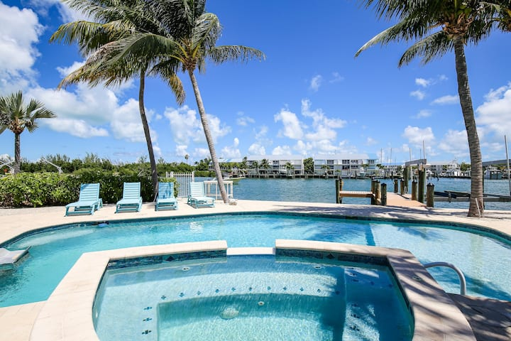 Amazing waterfront home w/private dock, patio, and pool area!