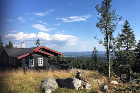 Cozy cabin with panoramic view