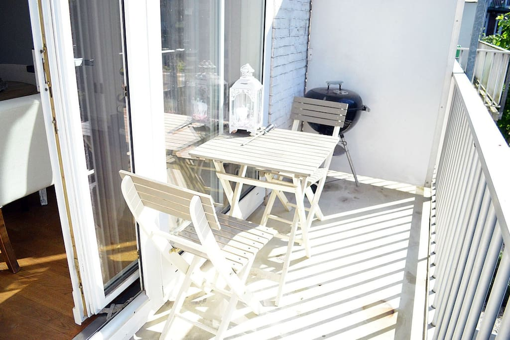 Enjoy a nice cup of coffee or tea on this great balcony