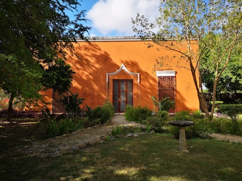 Historical house and setting in tranquil location.