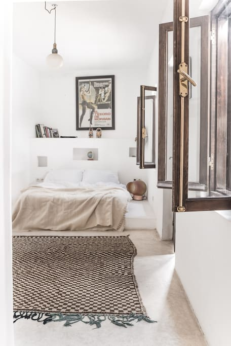 Bedroom 3 with 1 x Double bed and wet room en-suite bathroom with direct access to the terrace garden