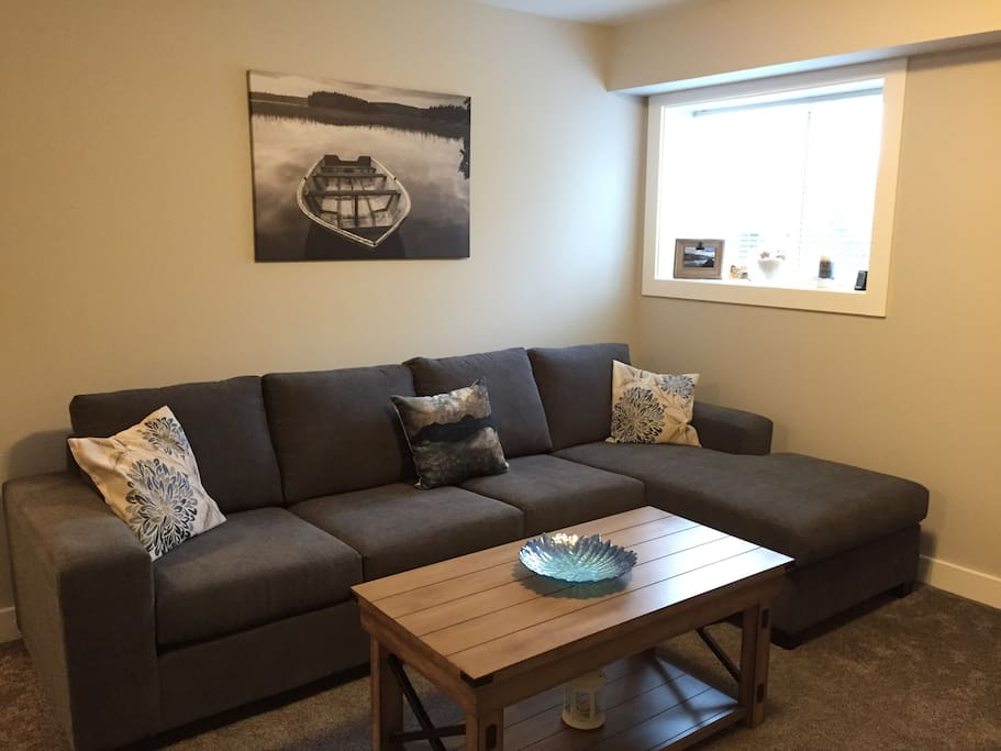 Comfy sectional in Living room