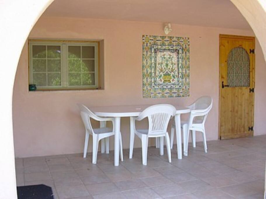 la terrasse couverte