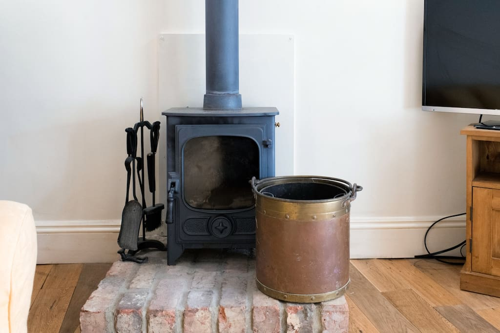 Cosy wood burner.