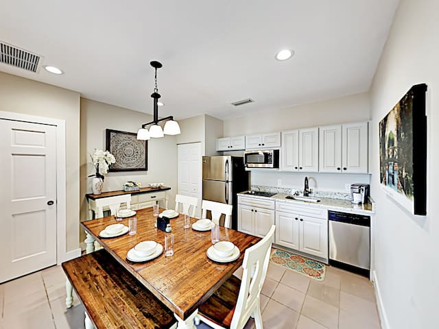 """Affectionately known as """"Living the Dream,"""" this delightful duplex studio is the ideal spot from which to enjoy St. Augustine."""