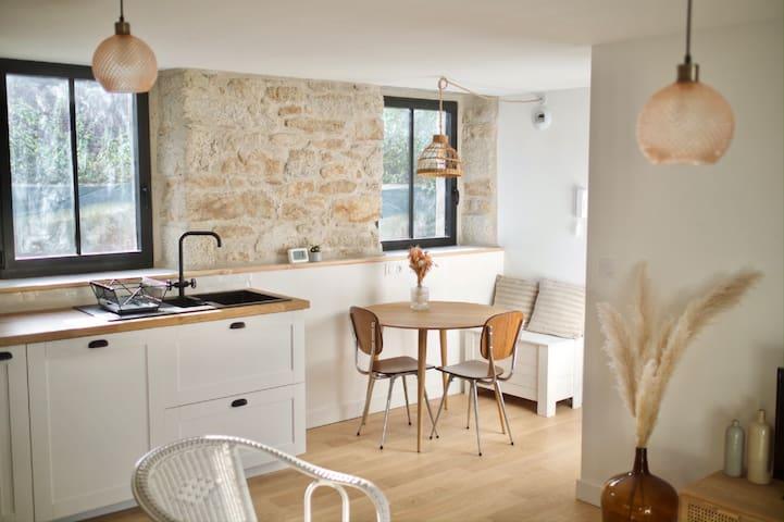 Bel appartement terrasse au cœur de Pont l'Abbé