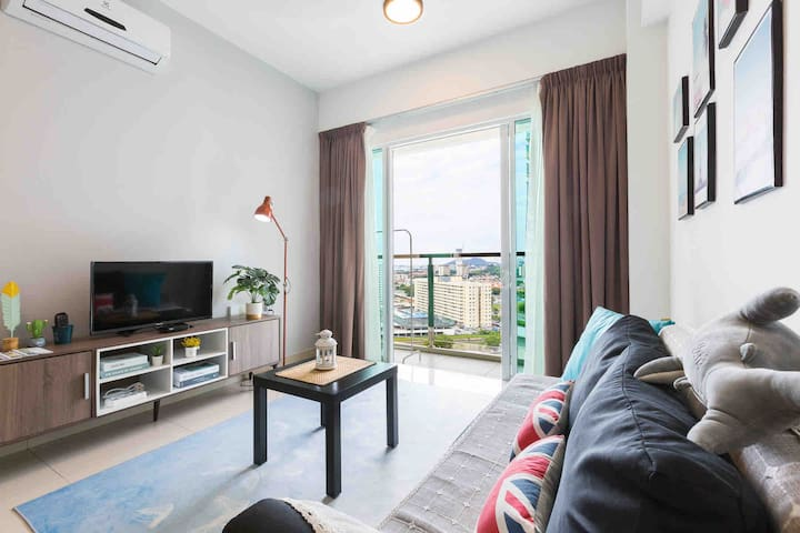 Newly Modern&Comfy Condo 3R2B for 3-9Pax♦️Penang♦️