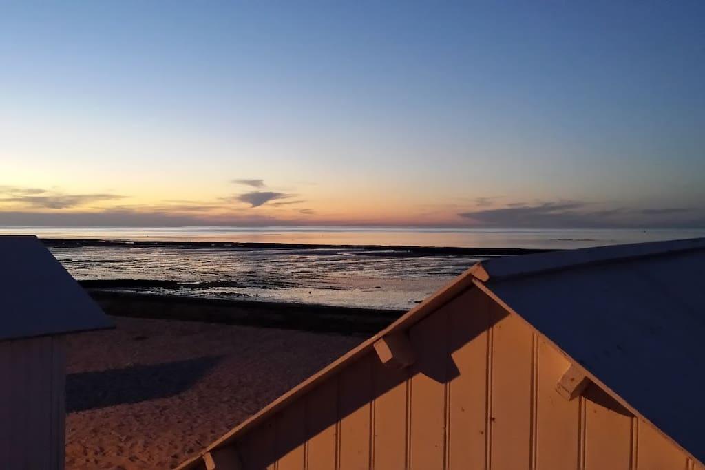 Les cabines de plage de Saint Aubin sur Mer