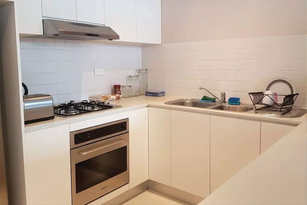 Fully contained kitchen, with breakfast available