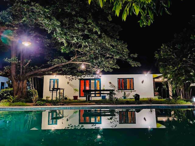 4 BHK Shanti~Natural Pool Villa in Half Acre