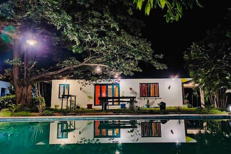 4 BHK~The Shanti~Natural Pool Villa in Half a Acre