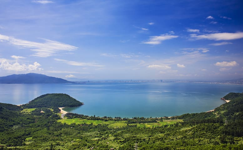 Beautiful views of the Da Nang Bay from the Hai Van Pass, approximately 30 minutes from the house.