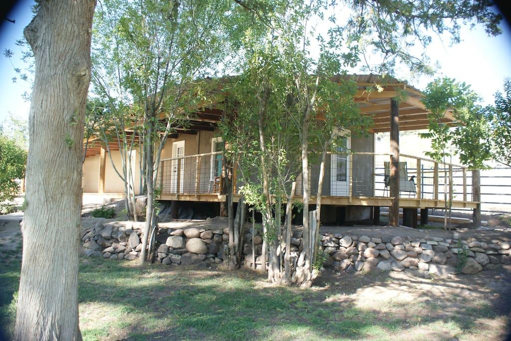 Bunkhouse Acequia Cabin Porch