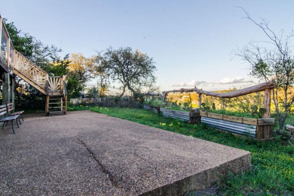 Explore the lush green space surrounding the home or simple have a seat outside while enjoying the surrounding scenery.