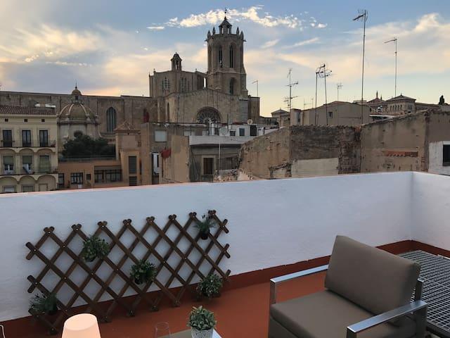 Apartamento 3º con Chill-Out frente a la Catedral